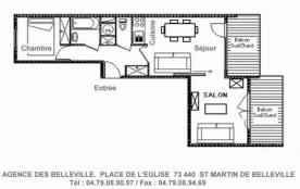 Appartement 2 pièces cabine 6 personnes (B7)