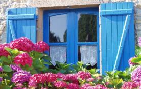 Maison de pêcheur typique à Sarzeau, Morbihan, Bretagne, France