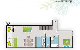Appartement 3 pièces 6 personnes (3P6-B17)