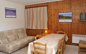Appartement F2 cabine - 45 m² - 6 personnes - catégorie 5 - pied des pistes - vue bas des pistes.