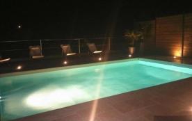 Maison vue mer 2/8 personnes, climatisée, piscine privée chauffée, plage de sable à 150 m  Les Issambres, allée calme