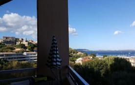 vue de la terrasse cote village porto vecchio