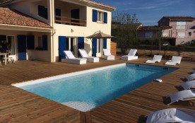 Villa 4 chb avec piscine CHAUFFEE à 150m de la plage sur le Golfe de Pinarello