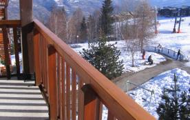 Le balcon avec vue sur les pistes