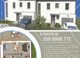1d46e33391bc40 Vente de maisons 5+ pièces dans le quartier Ville Haute Nord, à Coulommiers  (77120)