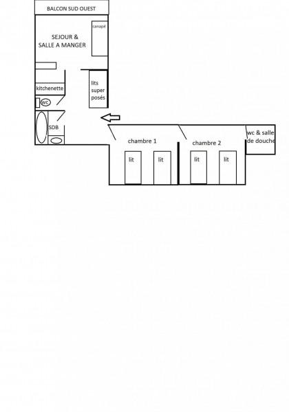 Appartement 2 pièces cabine 6 personnes (703)