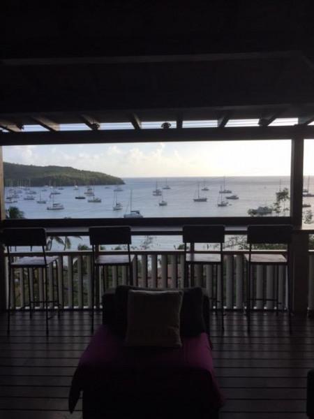 Vue sur la mer des Caraïbes de la villa
