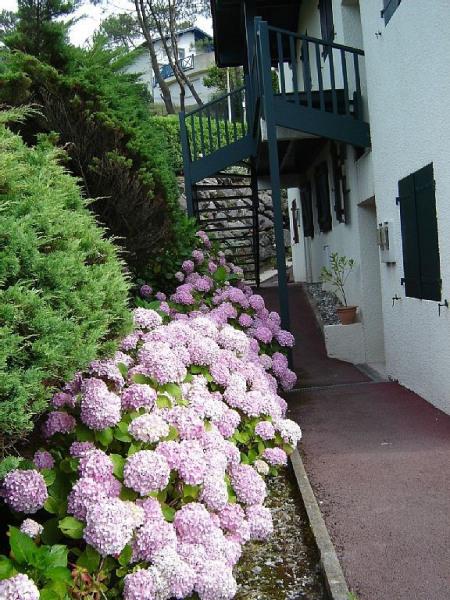 accès plat par l' arrière de la résidence