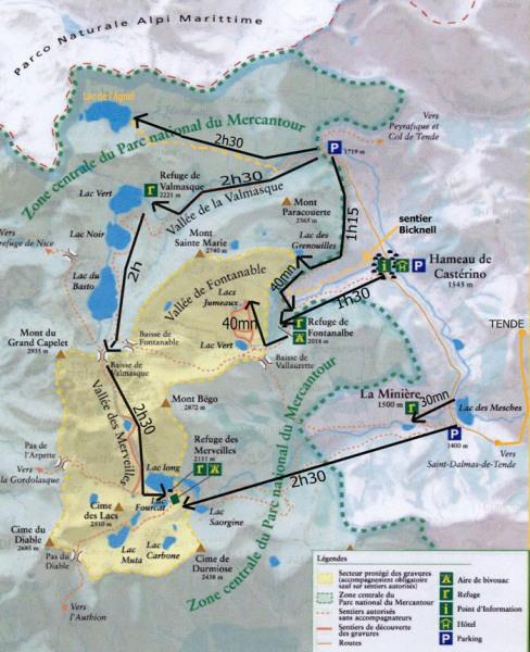 carte,  randonnées pédestres directement départ du chalet