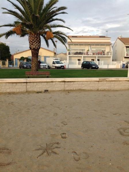 Résidence vu de la plage