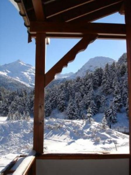 Vue montagne depuis une terrase