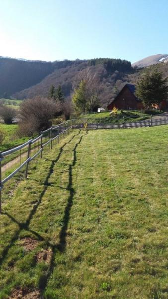 Photo bas de notre parcelle Clôture bois et grillage Jolie vue sur montagne