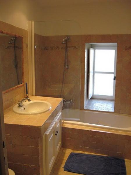 La salle de bains rose