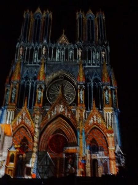 Reims illumination de la Cathedrale