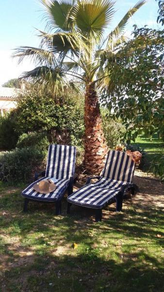 Jardin privatif pour bronzer et faire la sieste sa