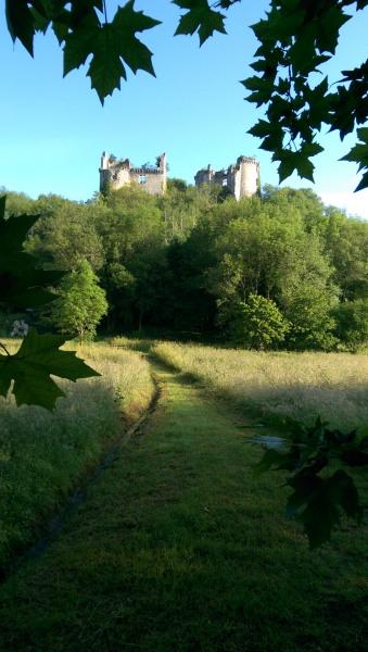 ruines château de Bruzac