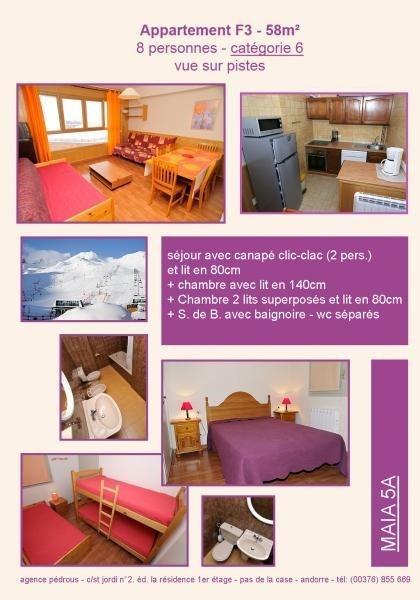 Location vacances Pas de la case -  Appartement - 6 personnes - Télévision - Photo N° 1