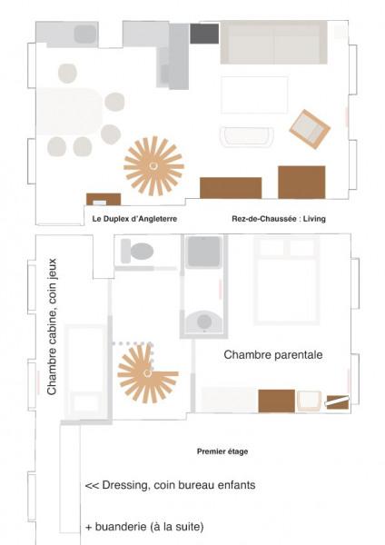 Le plan du duplex.