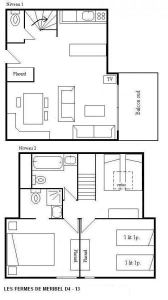 Appartement duplex 3 pièces 6 personnes