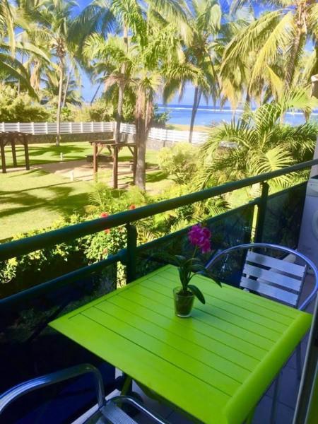 balcon jardin et lagon à perte de vue