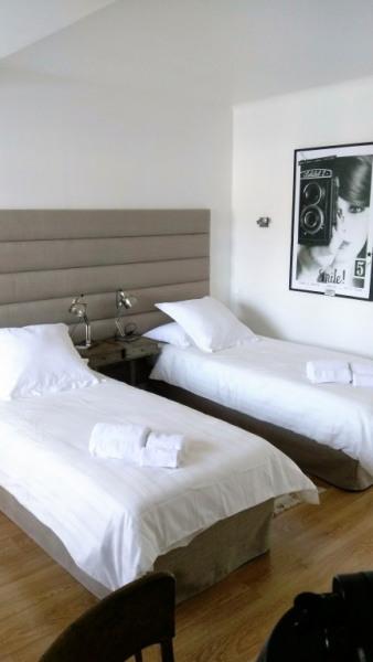 Chambre principale configuration 2 lits