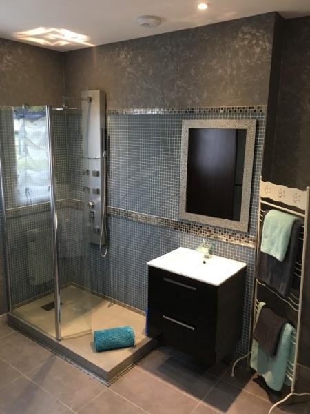 Douche hydromassante et vasque privatives chambre kingsize