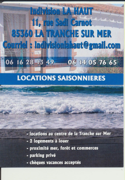 Locations LA TRANCHE SUR MER