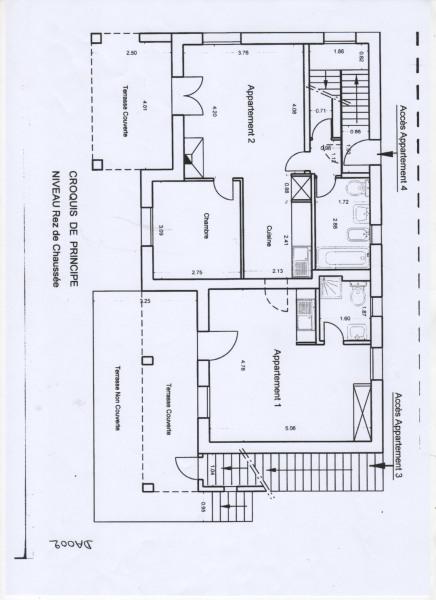 """villa """"Bois des pins"""" plan d'un niveau modulable"""