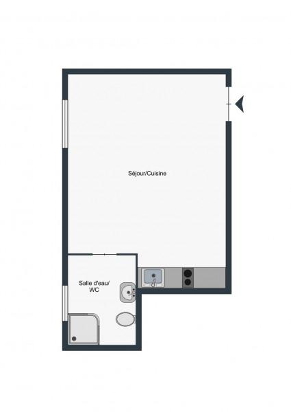 Appartement (1 pièce) à Paris 20ème (75020) - 950 € /mois - 21, - Paris 20ème (75020)-10