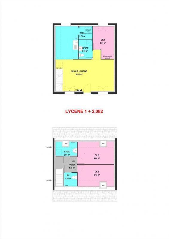 Maison  4 pièces + Terrain 710 m² Saint-Clair-sur-Epte par MAISONS PIERRE