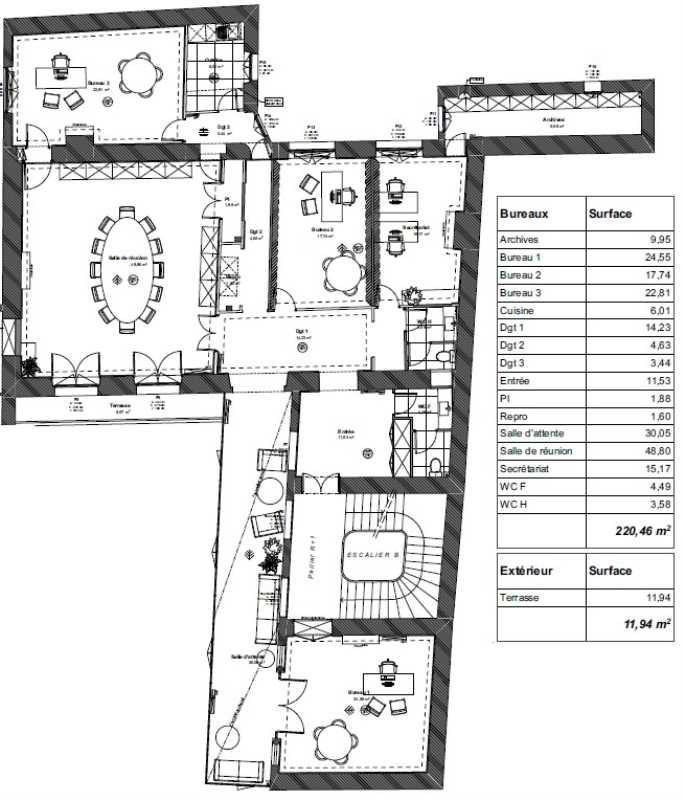 location bureau paris 6 me paris 75 220 m r f rence n 676068. Black Bedroom Furniture Sets. Home Design Ideas