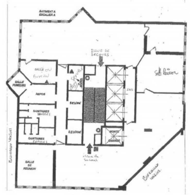 vente bureau colombes hauts de seine 92 410 m r f rence n 22140. Black Bedroom Furniture Sets. Home Design Ideas