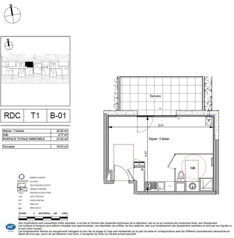 Vente Studio 27m² Écully