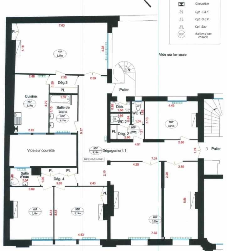 location bureau paris 17 me paris 75 202 8 m r f rence n 666083. Black Bedroom Furniture Sets. Home Design Ideas