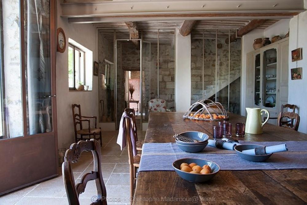 Vue de la salle à manger intérieure