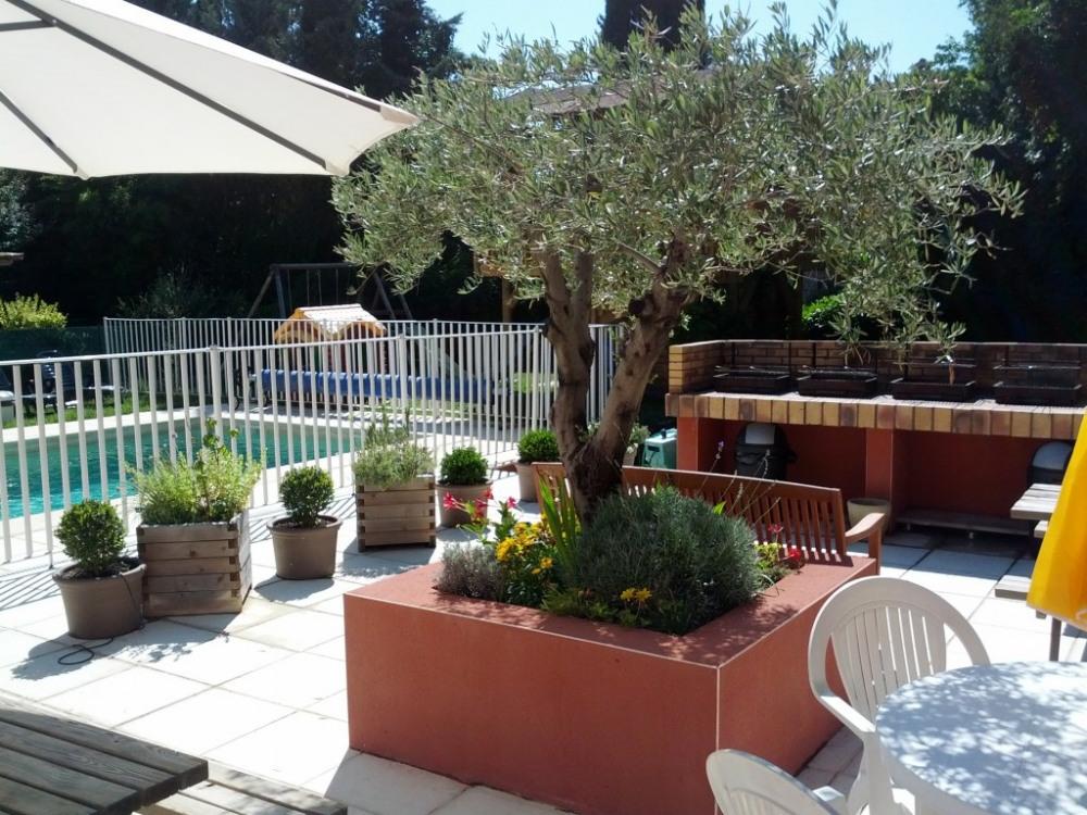 le patio avec ses barbecues