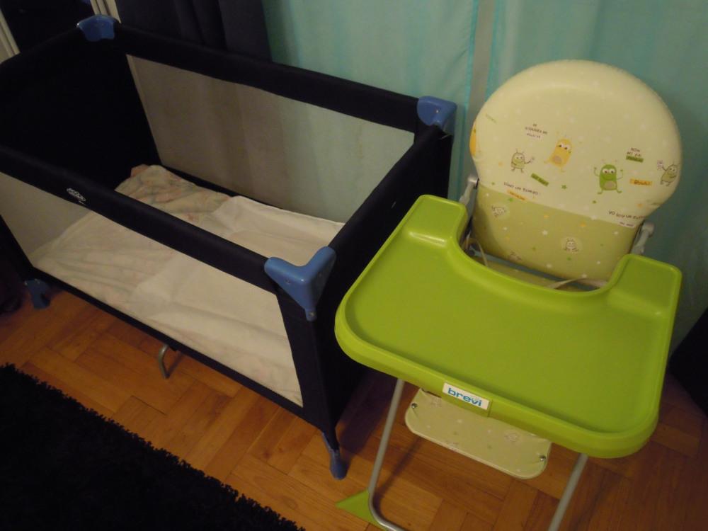chaise neuve  et lit bébé  neuf