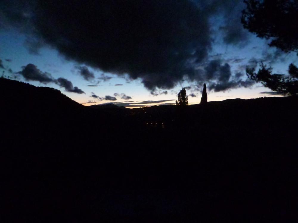 Le soir au coucher du soleil