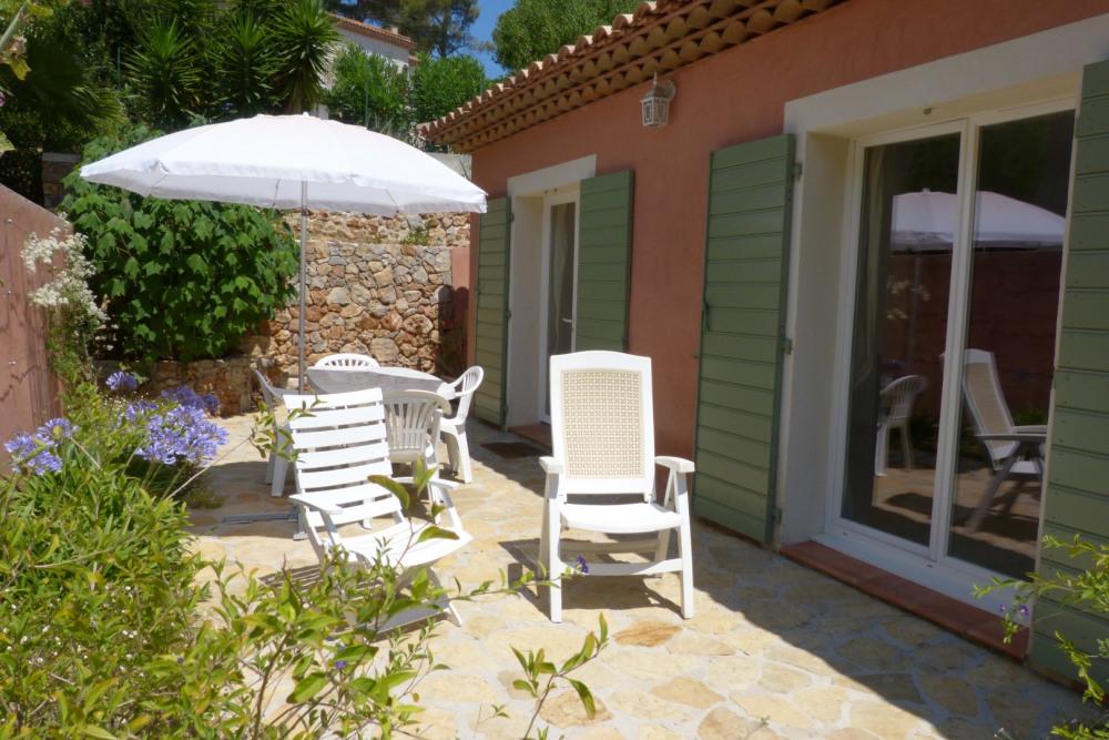 Terrasse privée réservée aux vacanciers