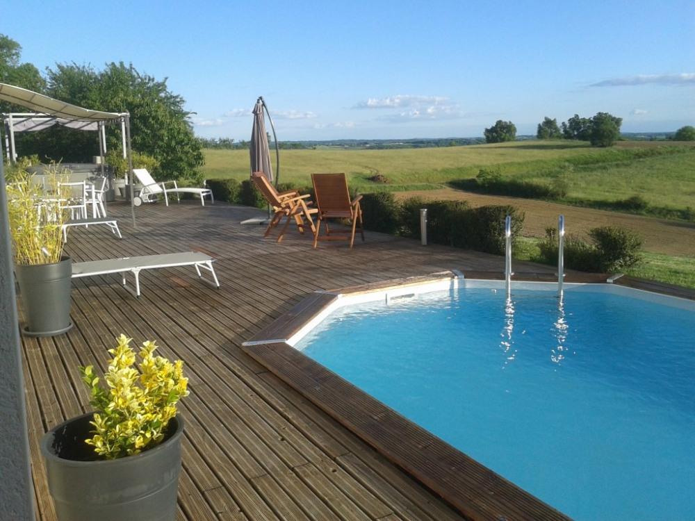 Une belle terrasse avec une vue incroyable