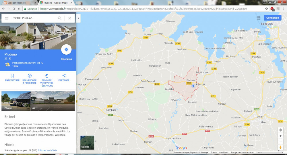 Entre Terre et Mer : A proximité St Jacut de la Mer, St Cast le Guildo, St Malo.