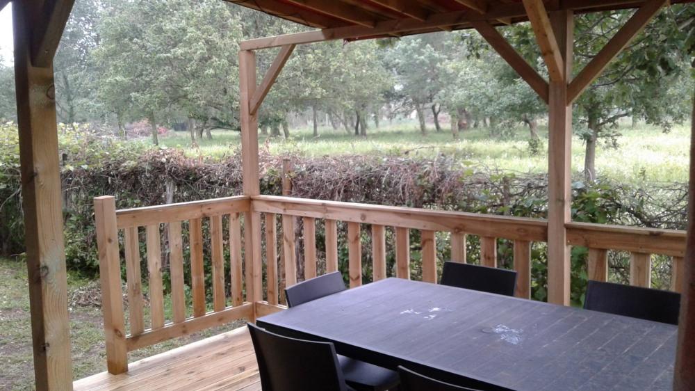 MOBILHOMME 3 chambres, climatisé, avec grande terrasse ombragée
