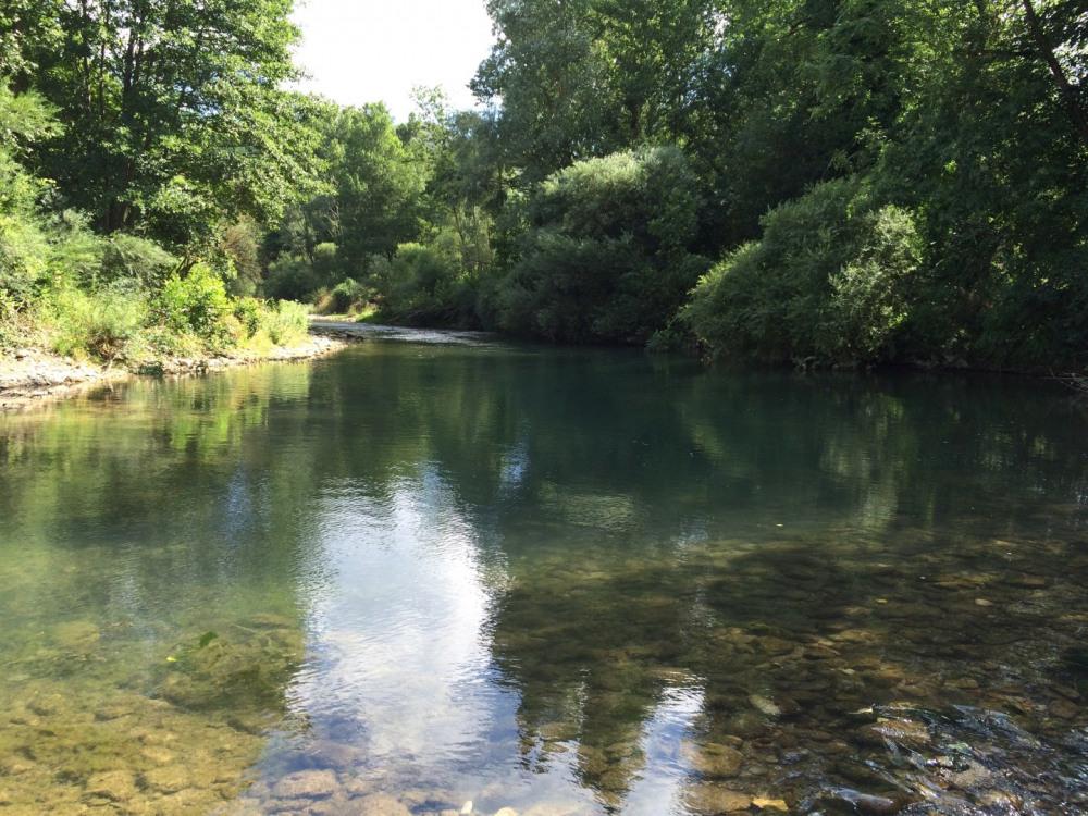 La rivière de la Sorgues face à la propriété