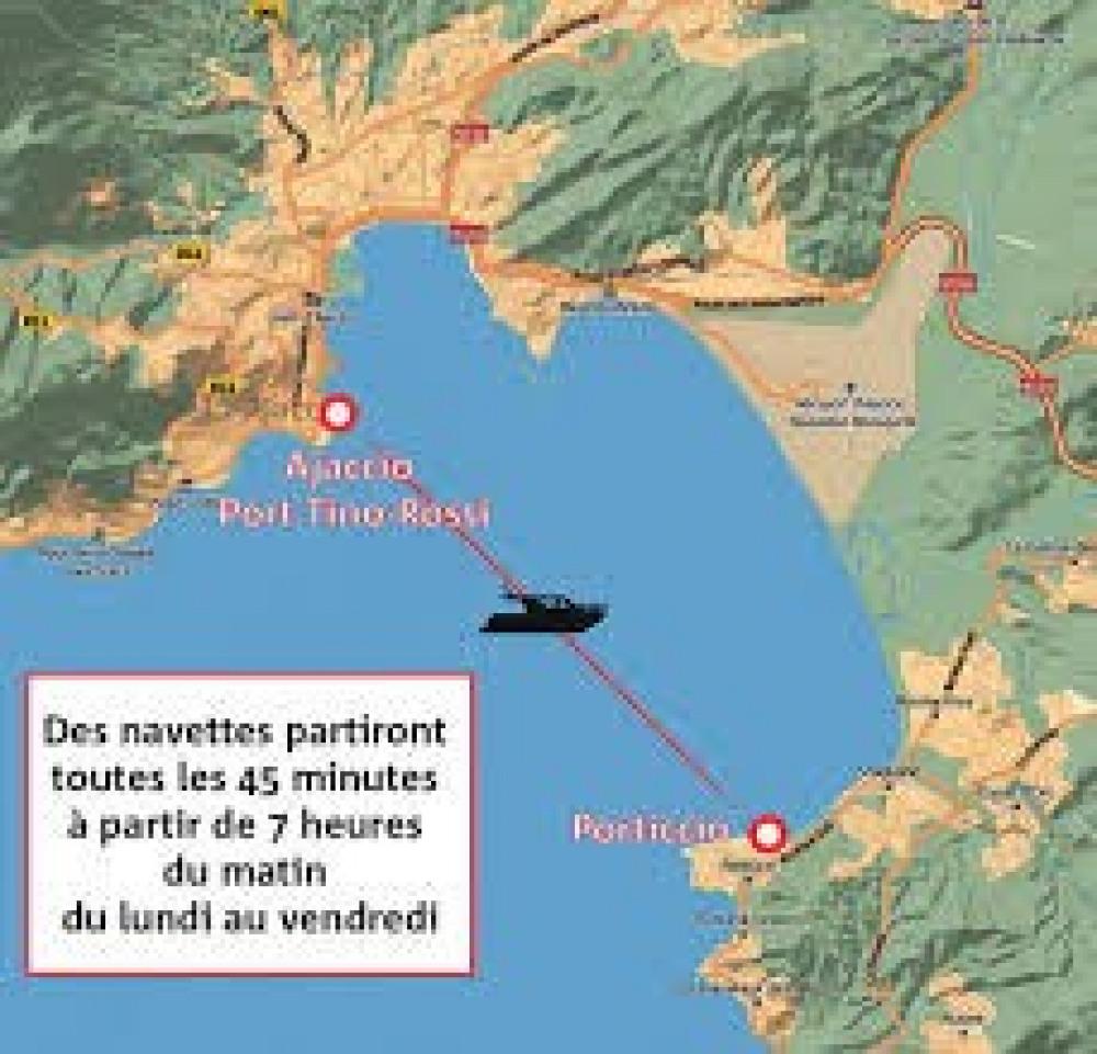 Un moyen agréable de rejoindre ajaccio: la Navette maritime Porticcio Ajaccio