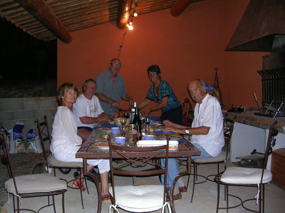 repas avec les propriétaires