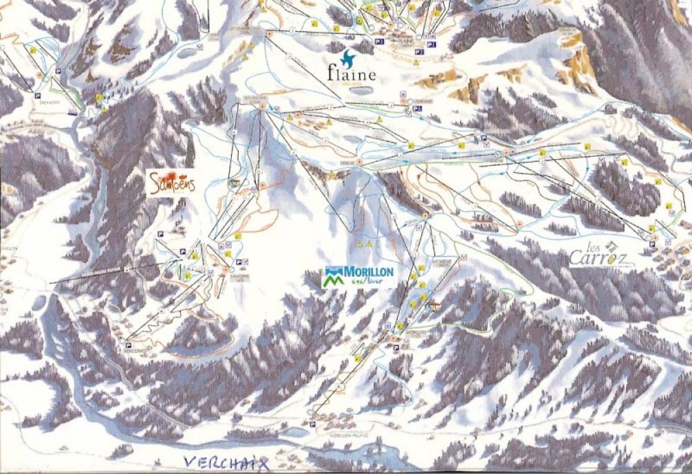 Piste de ski - départ à 2 kms du chalet