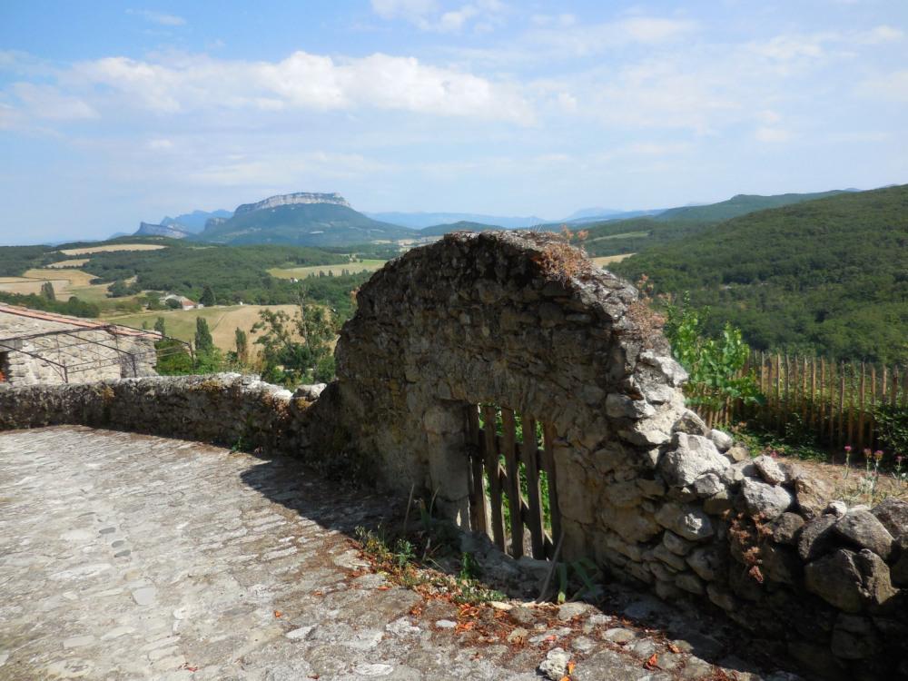 la Drôme  provençale avec ses vignobles et  ses oliviers au sud de Valence