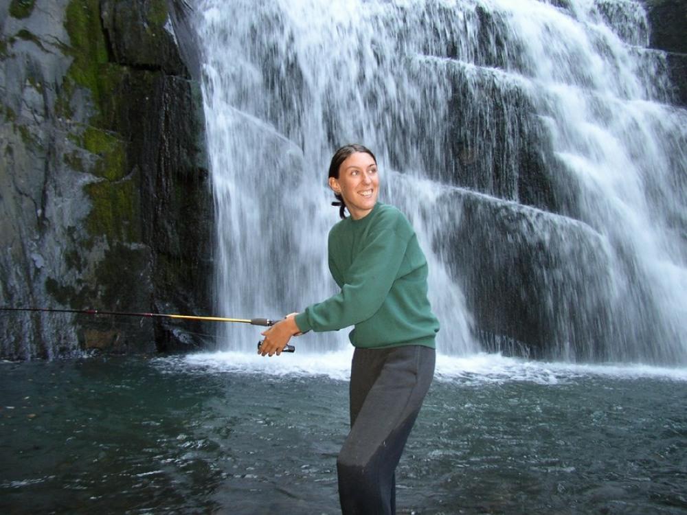 pêche dans le torrent