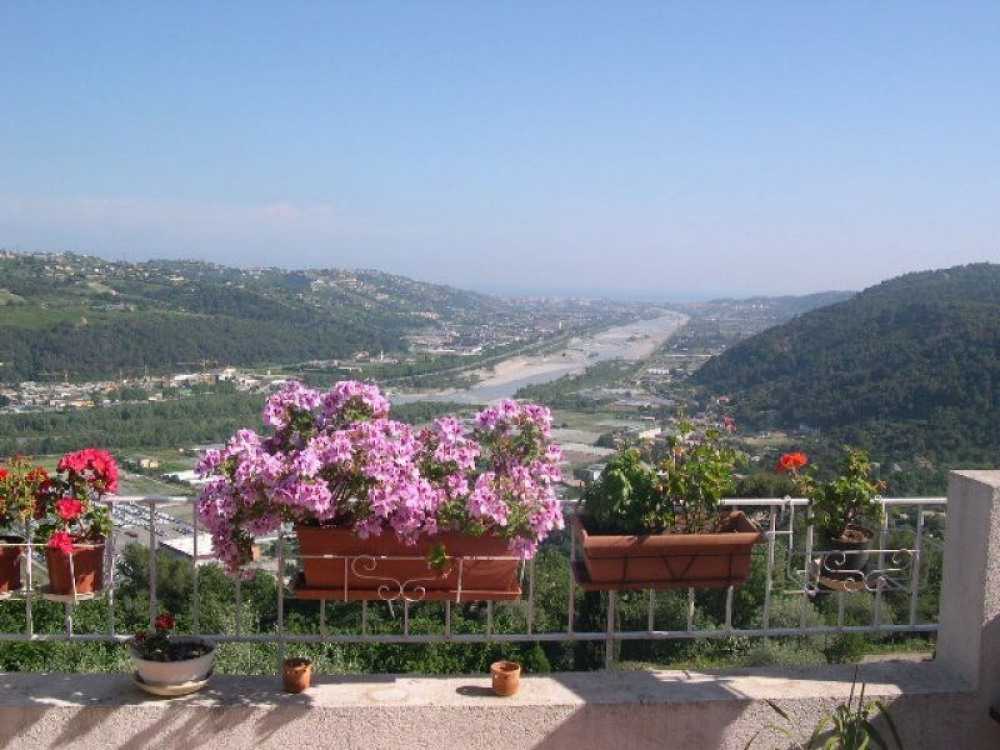 Beautiful view down the valley from the apartment