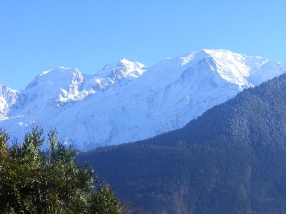 Mont Blanc vu de la terrasse